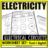 Electrical Circuits (Electricity) Worksheet Set
