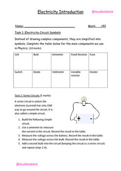 Electrical Circuits Lesson and Resources