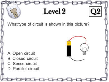 Electricity and Circuits Activity: Escape Room - Science (Electricity Unit)