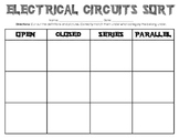 Electrical Circuits Sorting Activity