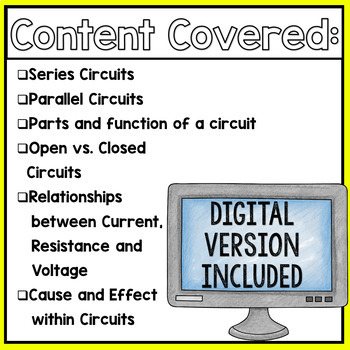 Electrical Circuits Virtual Lab Activity and Webquest | TpT