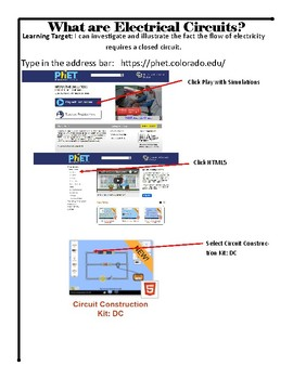 Electrical Circuits Virtual Lab - No Prep STEM
