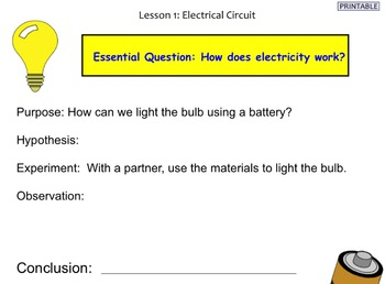 Electrical Circuits for the Elementary Classroom