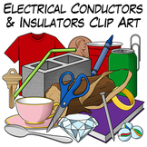 Electrical Conductors and Insulators Clip Art
