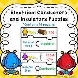 Electrical Conductors and Insulators Sort Puzzles for Science Center Activity