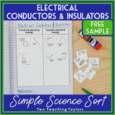 Electrical Conductors and Insulators FREE Sorting Activity