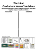 Electrical Conductors vs. Insulators
