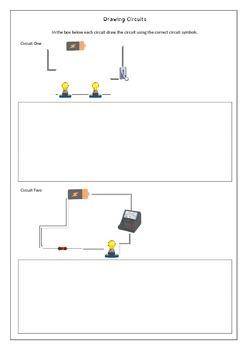 electrical diagram worksheets by jag education tpt rh teacherspayteachers com Simple Electricity Worksheets Electricity Worksheet Fun With