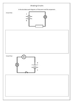 electrical diagram worksheets by jag education tpt rh teacherspayteachers com Simple Electricity Worksheets Voltage Worksheet