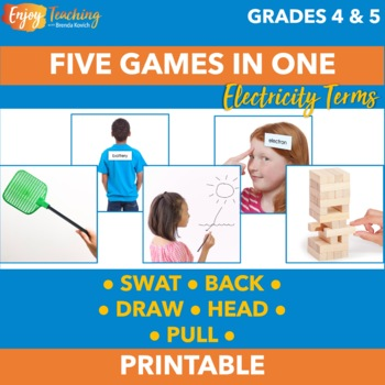 Electrical Energy Activities - Five Electricity Review Games in One