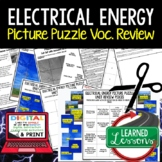 Electrical Energy Picture Puzzle Study Guide Test Prep (Physical Science)
