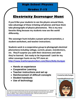 Electrical Energy Scavenger Hunt - Physics