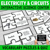 Electricity and Electrical Circuits Vocabulary Puzzles Activity