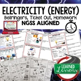 Electrical Energy Warm Ups & Bell Ringers, NGSS , Print &
