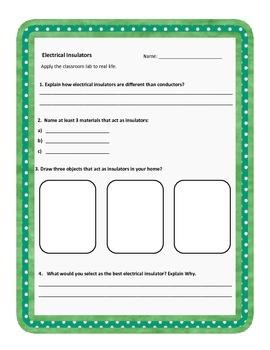 Electrical Insulator Homework or Quiz