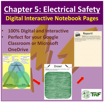 Electrical Safety - Digital Interactive Notebook Pages