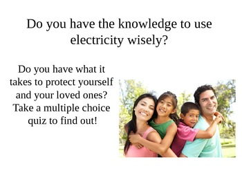 Electrical Safety lesson: Quiz for lesson also available!