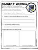 Thunder and Lightning - Reading Comprehension Worksheet