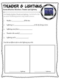 Thunder and Lightning (Simplified) - Reading Comprehension Worksheet