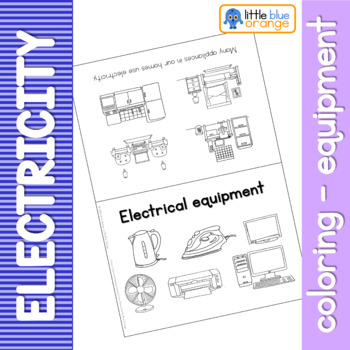 Electrical equipment coloring booklet