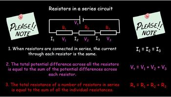 Electrical resistance and resistors in series and parallel