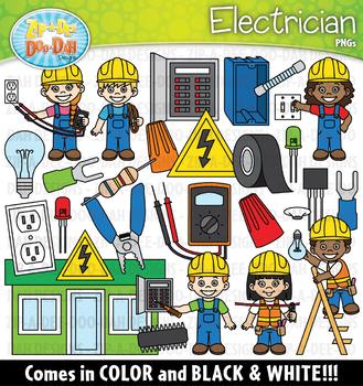 Electrician Community Helpers Clipart {Zip-A-Dee-Doo-Dah Designs}