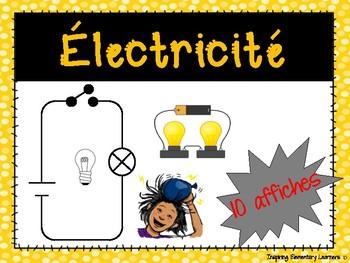 Électricité - 10 affiches / Electricity posters French