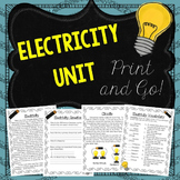 Electricity Unit Reading Comprehension and Activities