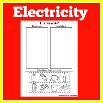 Conductors and Insulators Activity   Electricity Activity