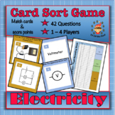 Electricity - 42 Question Card Sort Team Game