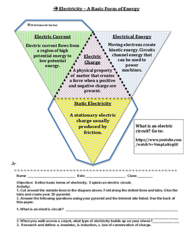 Physical Science:  Electricity - A Basic Form of Energy