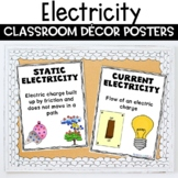 Electricity Anchor Chart Classroom Decor Posters