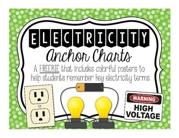 Electricity Anchor Charts FREEBIE