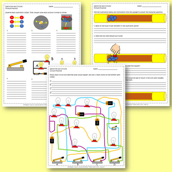 Electricity (Atoms, Circuitry) Worksheet Unit (Passages, Practice, Review)