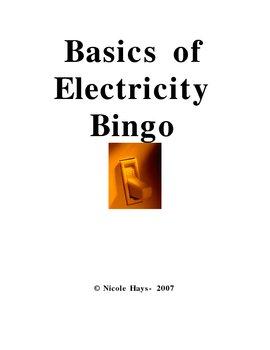Electricity Bingo