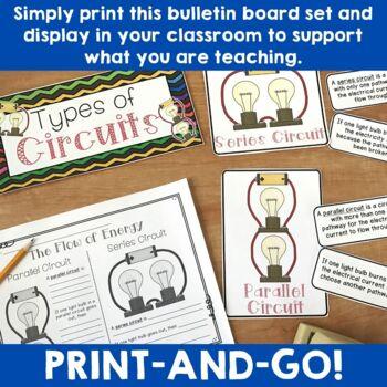Electricity Mini Unit Bulletin Board Set (+ Student Activities)