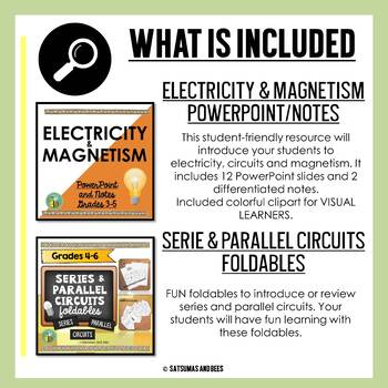 Electricity Bundle {Interactive science notebook foldables and more}