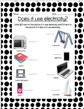 Electricity Cheat Sheets/Printables *FREEBIE*