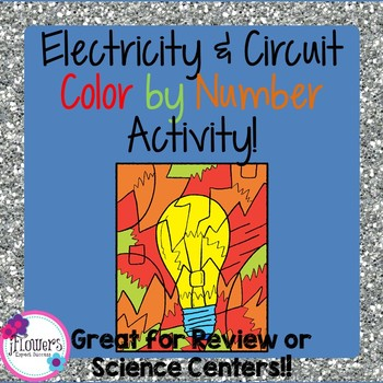 Electricity & Circuit Color by Number! Great for Review!