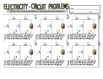 Stupendous Electricity Circuit Diagrams Problems Overhead Answer Key Tpt Wiring 101 Cajosaxxcnl