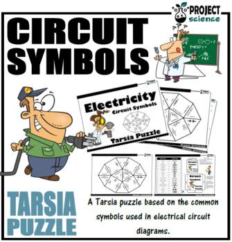 Electricity Circuit Symbols Tarsia Puzzle