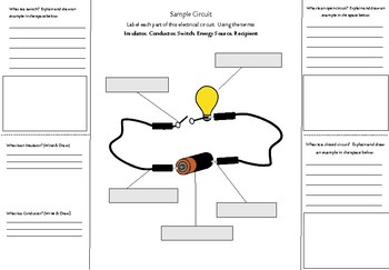 Electricity, Circuits & Switches:  Foldable Interactive Notebook - NO PREP