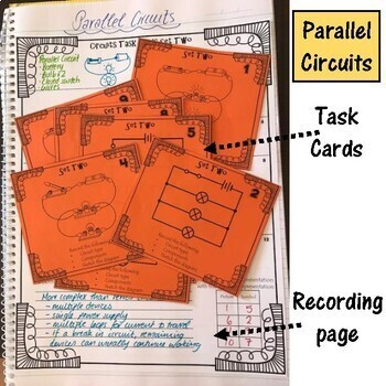 Electricity. Circuits. Task Cards. Set 1