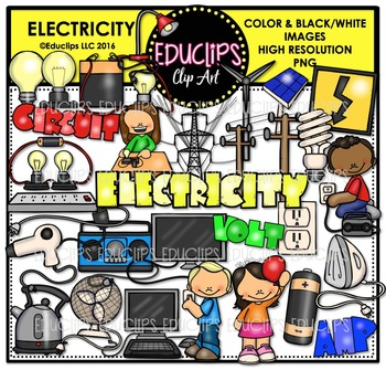 Electricity Clip Art Bundle  {Educlips Clipart}