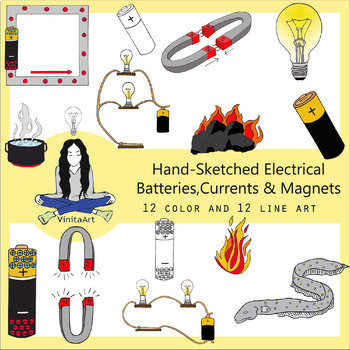Electricity Clip Art, Circuits, magnets, currents & more