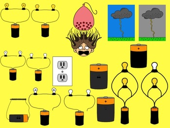 Electricity Clip Art Collection: Bulbs, Batteries, Circuits and More
