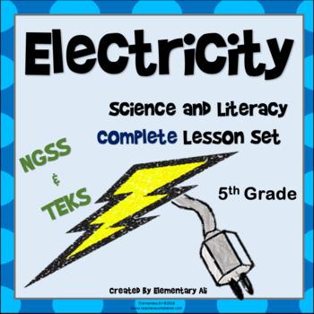 Electricity Complete Lesson Set Bundle (NGSS & TEKS) 5th Grade
