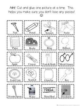Electricity Conductors or Insulators Cut and Paste Sorting and Matching Activity