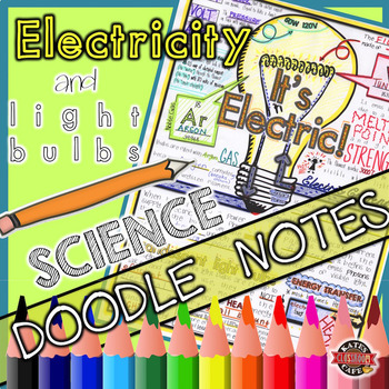 Electric Bulb Doodle Notes Sheet