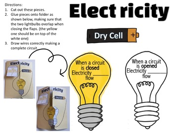 Electricity File Folder Notes!  With Answer Guide!